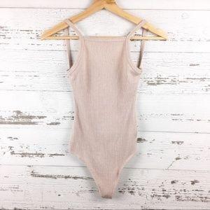 WILFRED FREE Blush Low Back Ribbed Bodysuit